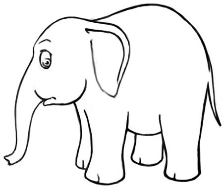 450x378 Drawn Toon Elephant