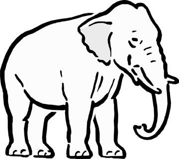 360x320 Elephant Cartoon Drawing