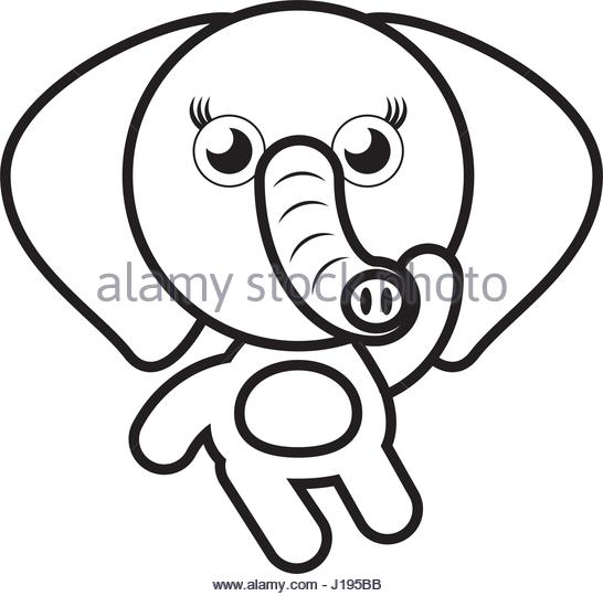 546x540 Elephant Drawing Trunk Stock Photos Amp Elephant Drawing Trunk Stock