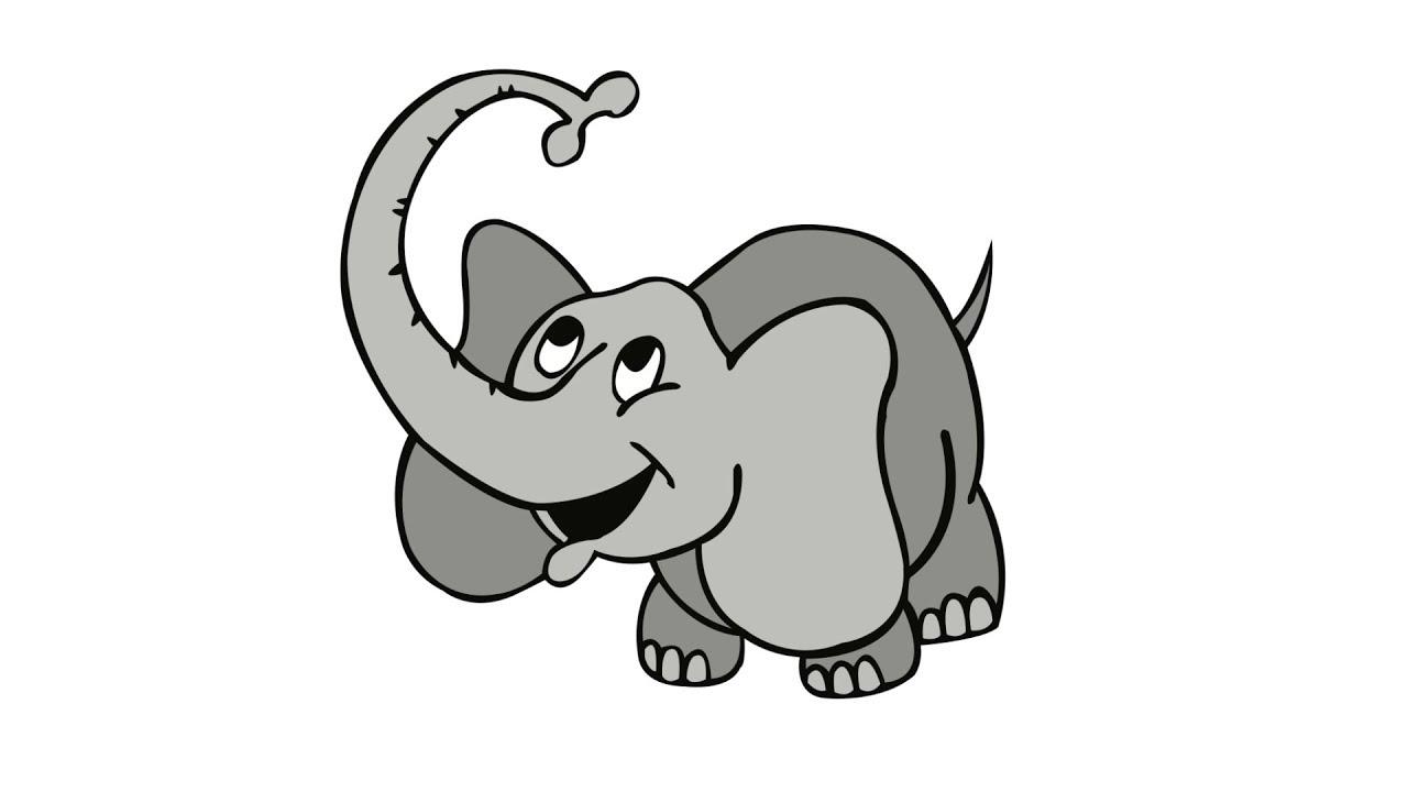 1280x720 How To Draw An Elephant.