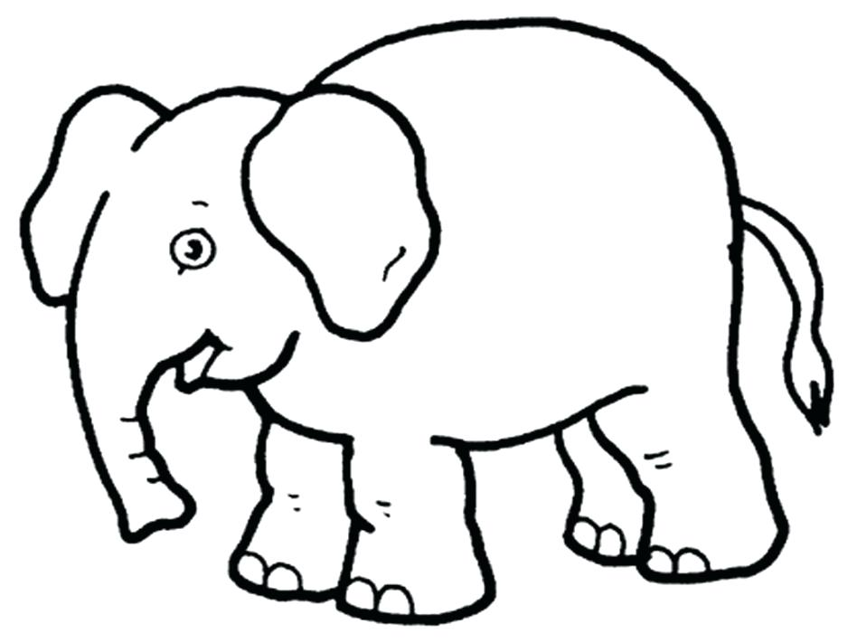 948x711 Print Elephant Coloring Pages Page Cartoon Pictures To Color Sheet