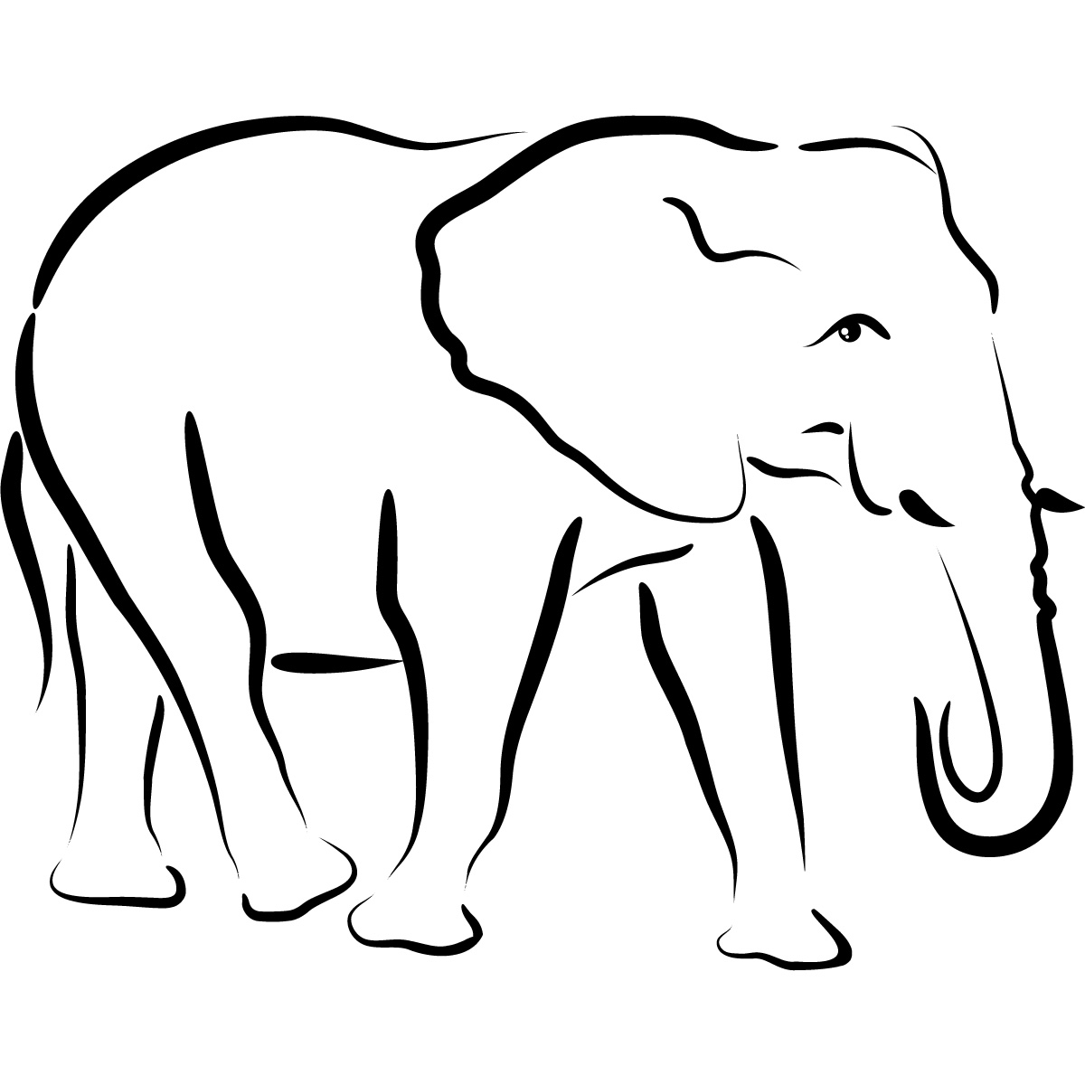 1200x1200 Simple Drawing Of Elephant How To Draw Simple Cartoon Elephant