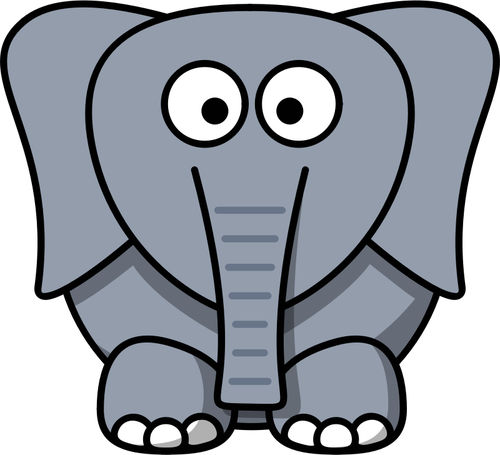 500x455 Vector Drawing Of Funny Kid Cartoon Elephant Public Domain Vectors