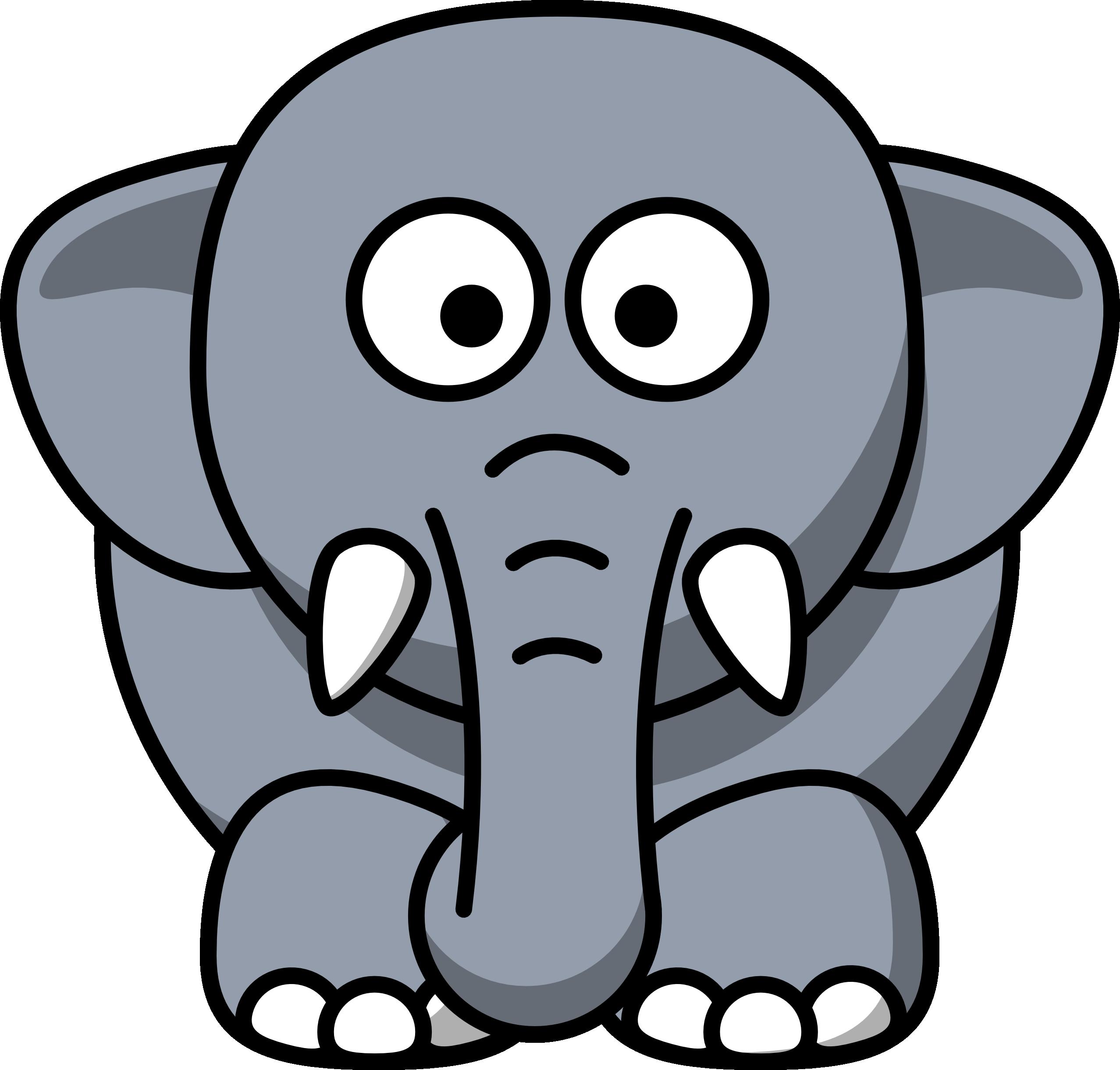 2555x2440 Elephants Drawing Cartoon