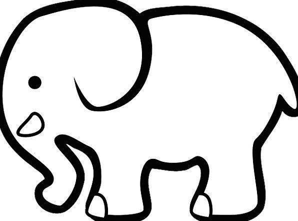 596x441 Elephant, Monster, Physical, Silhouette, Animal, Cartoon
