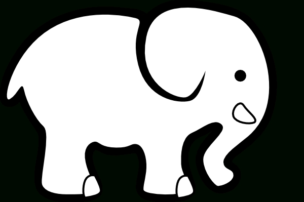 600x399 Elephant Clipart Outline Letters Example