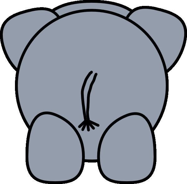 600x591 Elephant Rear Clip Art