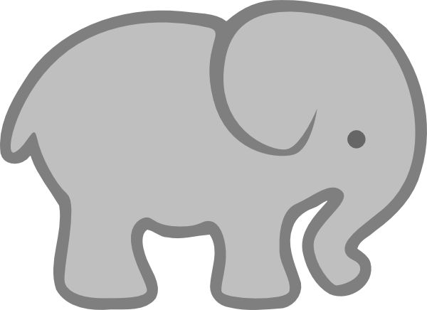 600x436 Gray Clipart Elephant Cartoon