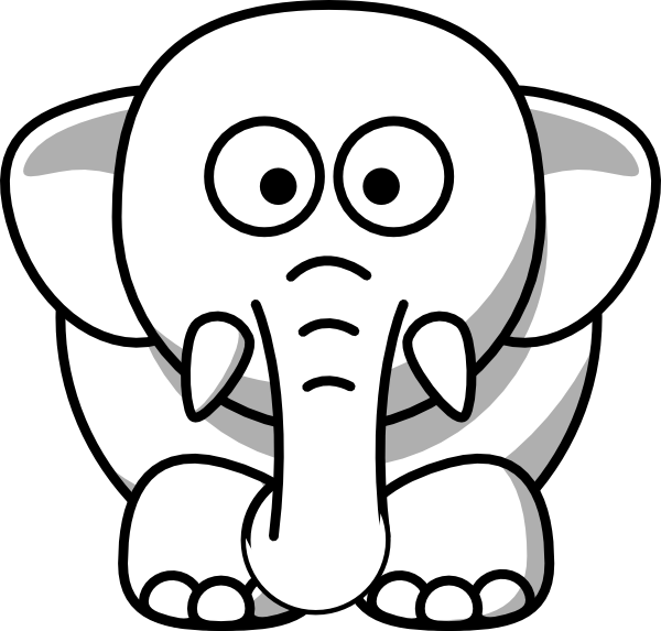 600x573 White Elephant Clip Art