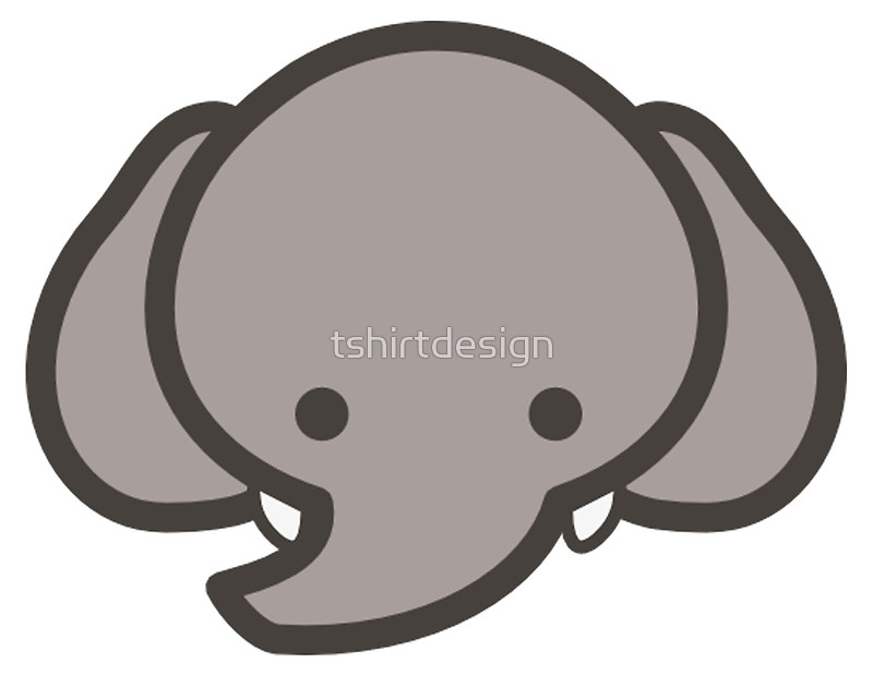 800x619 Baby Elephant Head Clipart Black And White
