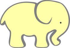 236x162 Baby Elephant Outline Clip Art