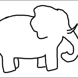 image about Elephant Outline Printable named Elephant Cartoon Define Absolutely free obtain great Elephant