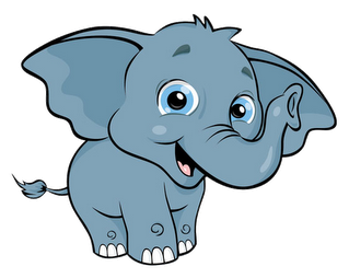 319x254 Cartoon Baby Elephant Clipart