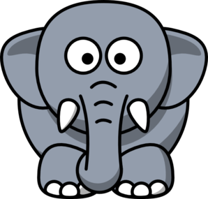 298x285 Cartoon Elephant Clip Art Clip Art