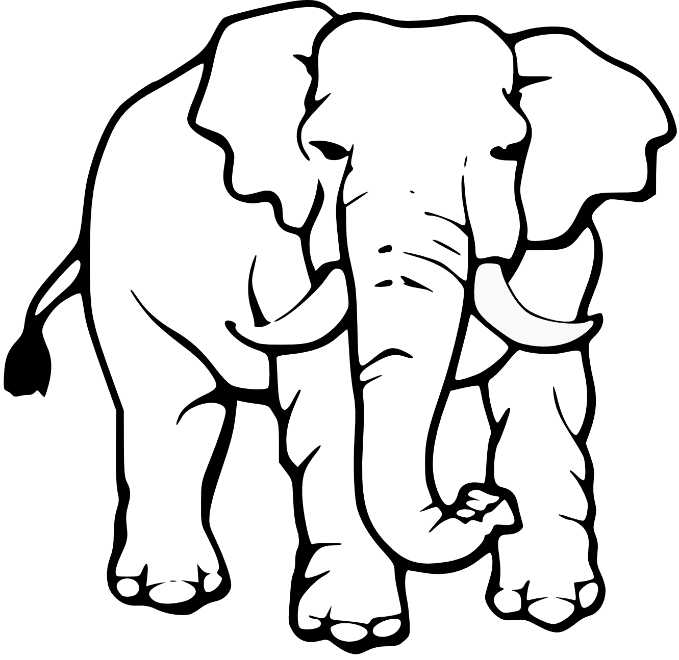 1331x1295 Elephant black and white cute elephant clipart black and white 2