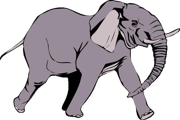 600x401 Elephant Clip Art Free Vector 4vector