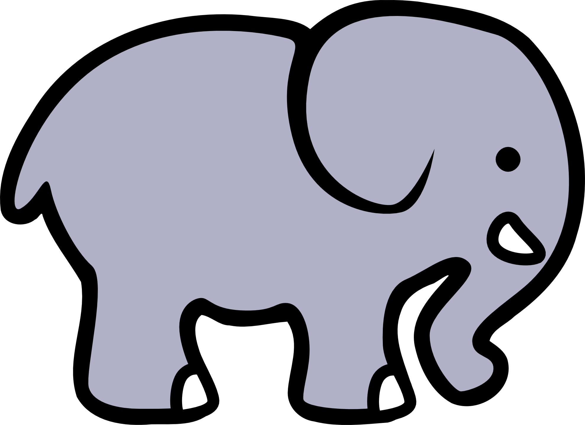 1979x1437 Elephant clip art black and white free clipart