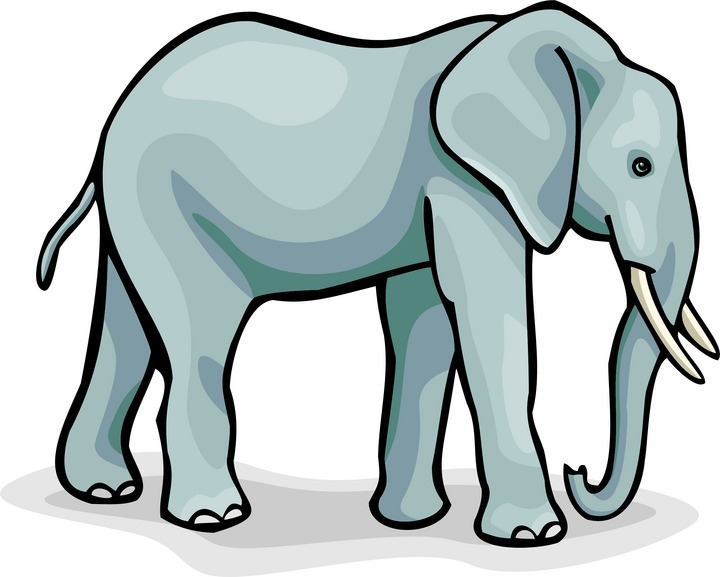 720x577 Asian Elephant clipart circus elephant