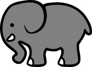 300x218 Elephant clipart big elephant