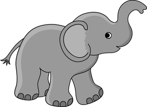 300x218 Baby Elephant Clipart Free Images