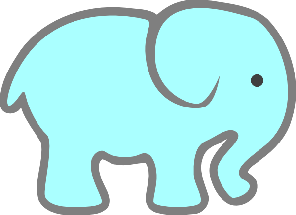 600x436 Blue Baby Elephant Png, Svg Clip Art For Web