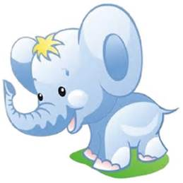 259x259 Cute Elephant Clip Art