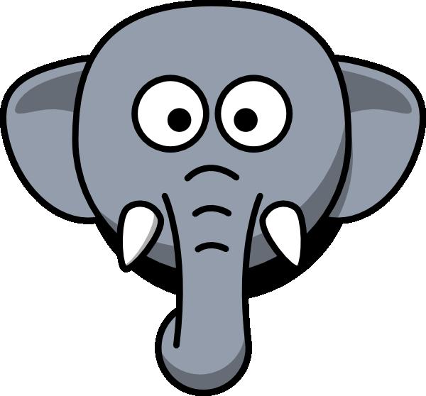 600x558 Head Clipart Baby Elephant