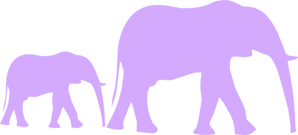 600x272 Purple Baby Shower Elephant Mom And Baby Clip Art