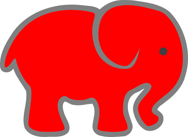 600x436 Red Clipart Baby Elephant