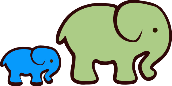 600x299 Small Clipart Elephant Baby