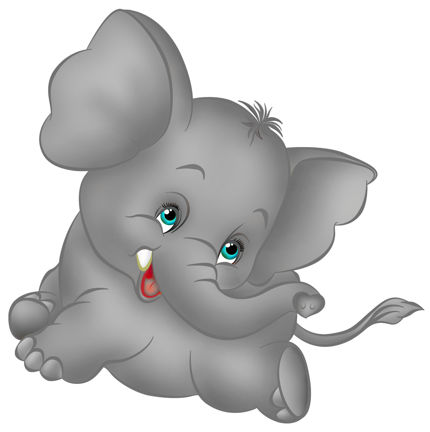 1400x1409 Cute Baby Elephants Clipart