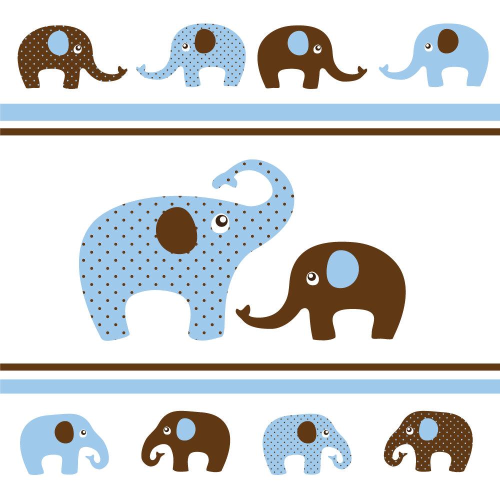 1000x1000 Blue Clipart Baby Elephant