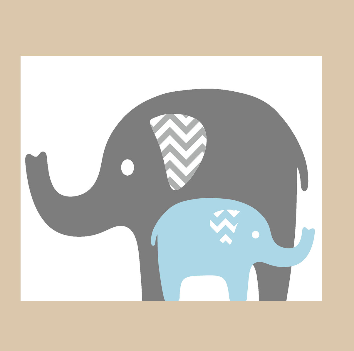 1205x1195 Elephant With Baby Elephant Clipart