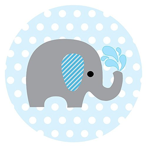 500x500 Baby Boy Elephant Stickers For Baby Shower