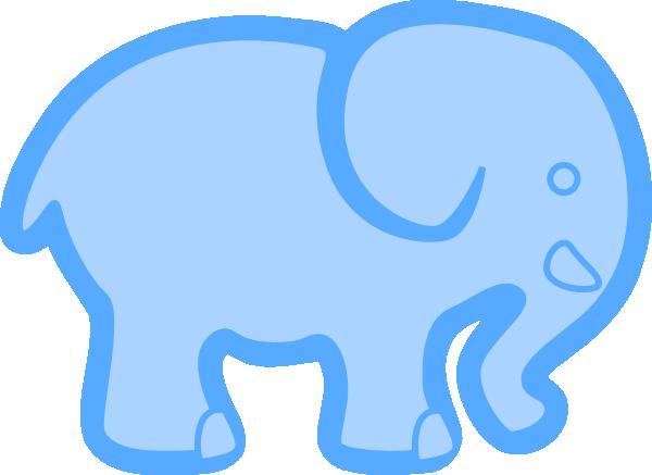 600x437 Baby Blue Elephant Clip Art