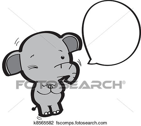 450x403 Clipart Of Elephant Cartoon K8565582