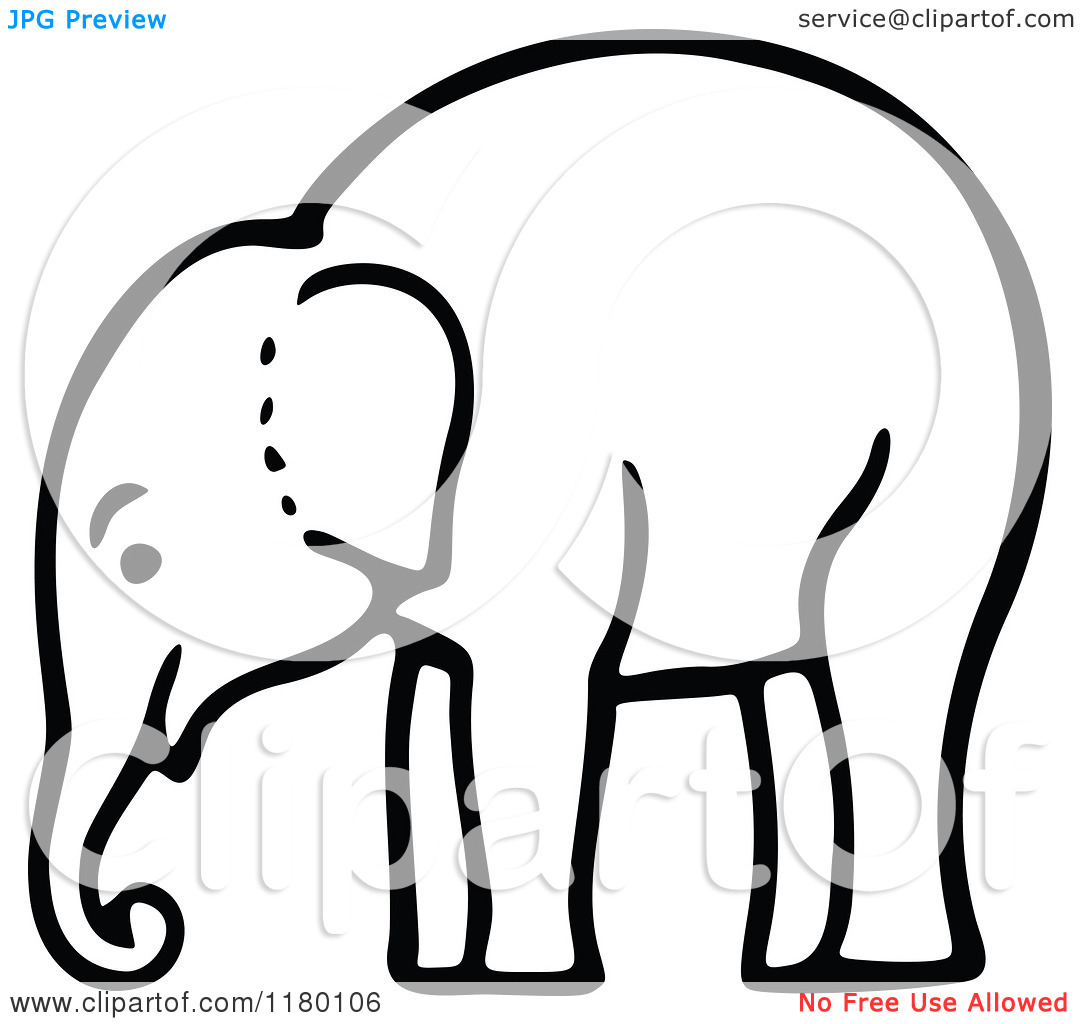 1080x1024 Elephant Black And White Clipart