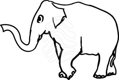 400x270 Elephant Clip Art Black And White Clipart Panda