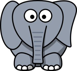 300x276 Elephant Clip Art Black And White Free Clipart 3
