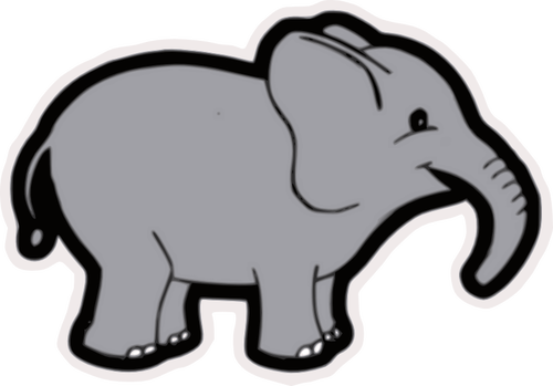 500x349 Baby Elephant Vector Clip Art Public Domain Vectors