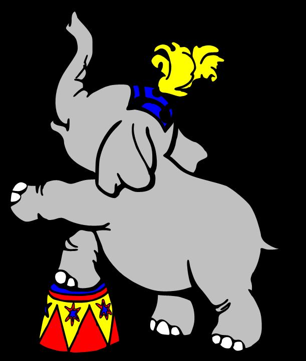 611x722 Circus Elephant Clipart Clipart Kid Image