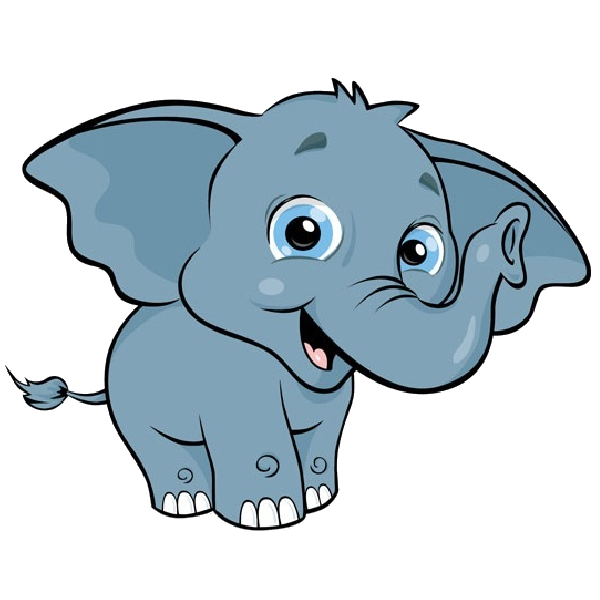 600x600 Elephant Cartoon Clip Art