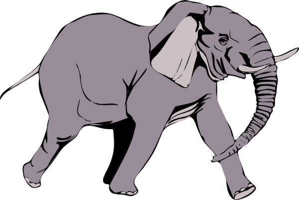 600x401 Elephant Clip Art Black And White Free Clipart 5