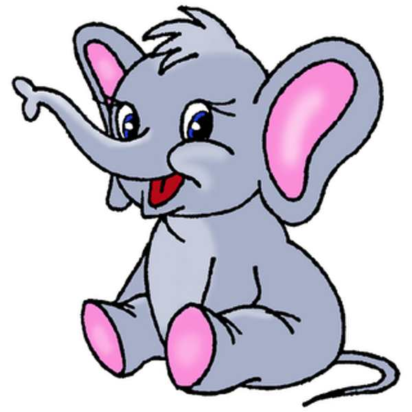 600x600 Elephant Clipart Animated