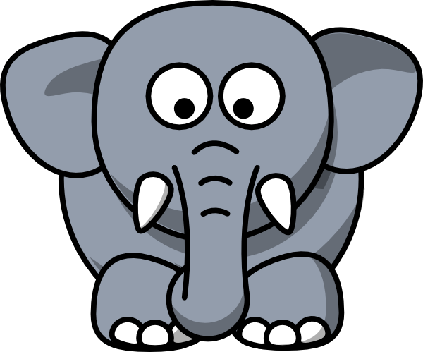 600x499 Elephants Clipart