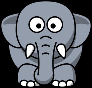 298x285 Gray Elephant Clip Art