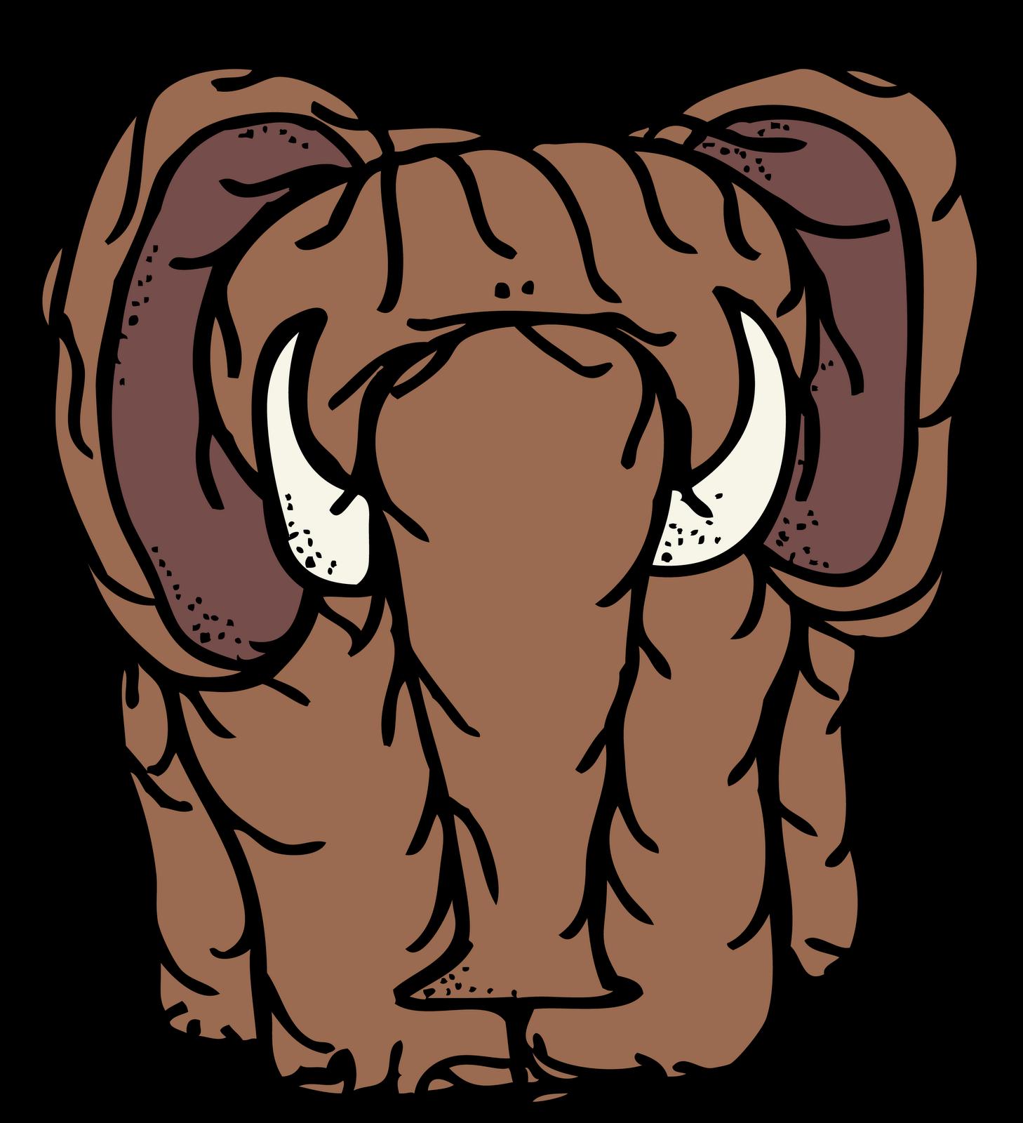1458x1600 Head Clipart Mammoth
