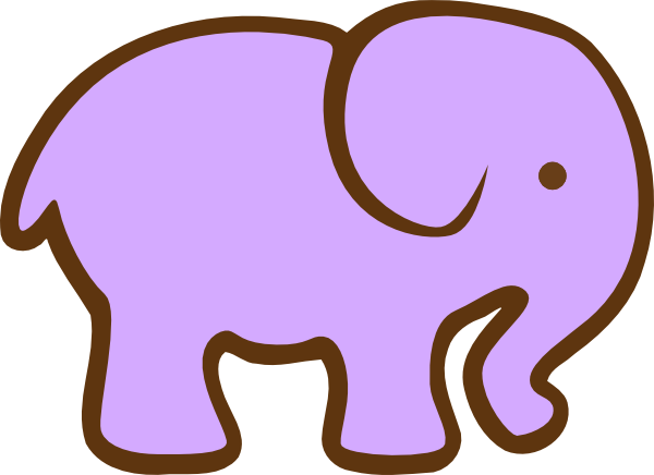 600x436 Purple Elephant Clip Art