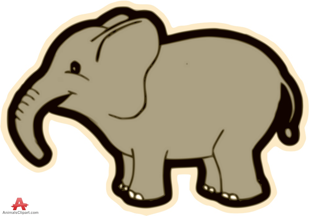 999x697 Free Elephant Clip Art Outline Elephant Stock Illustration