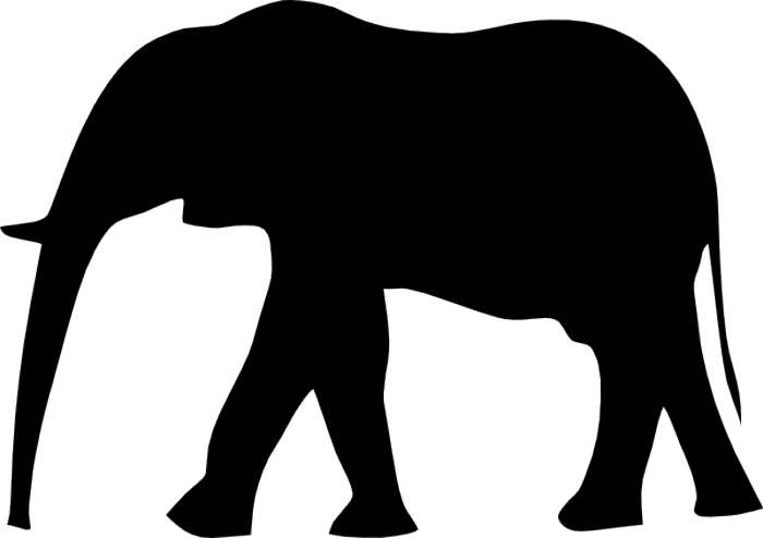 700x494 Asian Elephant Clipart Elephant Outline